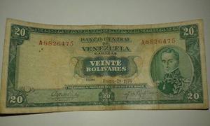 Billetes De 20bs(2piezas), Billetes De bs (2 Piezas).