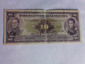 C 8 Agosto Billete De 10 Bolívares