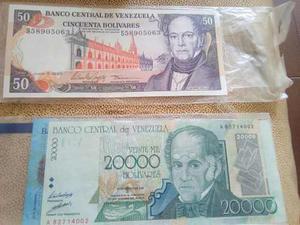 Colección De Billetes Antiguos Unc