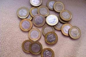 Coleccion Monedas 1 Bolivar Años  Y 12 Borde Dorado