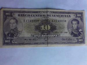 E 19 Noviembre Billete De 10 Bolívares