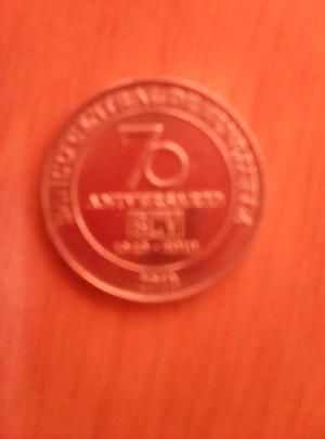 Moneda 70 Aniversario Bcv, Firma De La Independencia