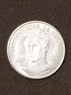 Moneda Conmemorativa De Plata 75 Bs Antonio Jose De Sucre