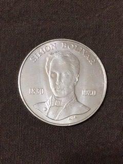 Moneda De Plata 100 Bs Simon Bolivar
