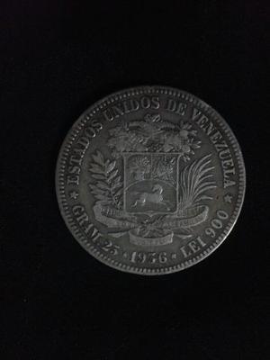 Moneda De Plata 5 Bs.