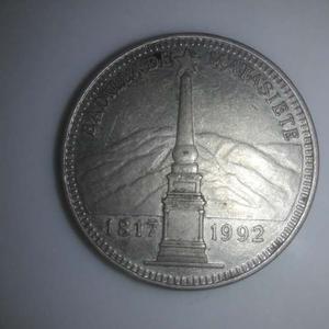 Moneda De Plata Conmemorativa Batalla De Mata Siete