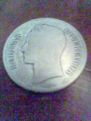 Moneda De Plata De 2 Bolivares - 10gr De
