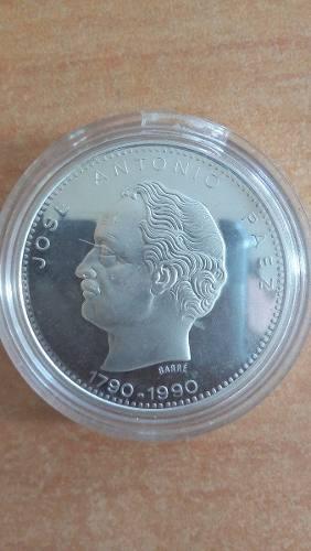Moneda De Plata Jose Antonio Paez