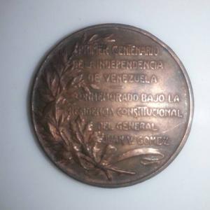 Moneda Medalla Conmemorativa Del 1er Centenario Independecia