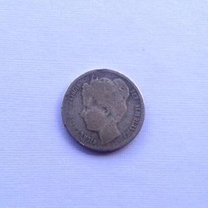 Moneda Reina Guillermina  Plata