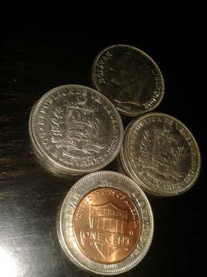 Monedas Venezolanas Dos (2) Bolivares .