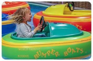 Kiddie Bumper Boats Lancha Bateria Niños Usada Incompleta.
