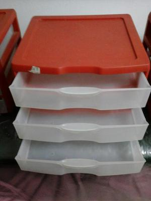 Organizador Plastico De 3 Gavetas