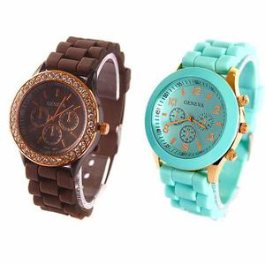 Reloj Geneva Clasico Y Gold Al Mayor Y Al Detal