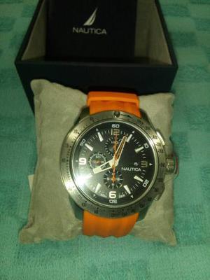 Reloj Nautica Color Naranja Nuevo
