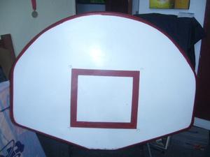 Tablero De Basket De Fibra De Vidrio Con Aro Hidráulico
