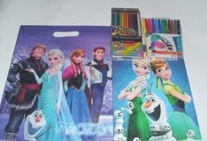 Elsa Y Anna Frozen Disney Juguete Niña Prismacolor 12