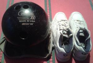 Combo Bola De Bowling Marca Columbia 300 Y Zapatos Dexter
