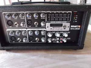 Consola Amplificada Saypro Sa-402(usb) Portatil Con Control