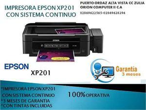 Impresora Epson Xp 201 Con Sistema Tinta Continua