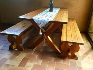 Juego De Muebles De Madera, Para Comedor O Para Jardín