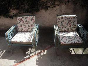 Juego De Muebles Para Jardín De Hierro Colado, 4 Piezas