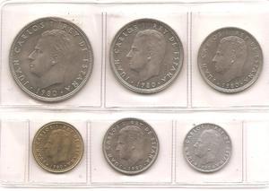 Monedas decretadas por el Rey Juan Carlos I de España