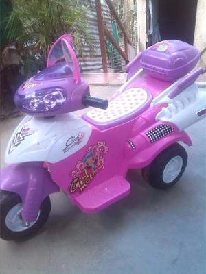 Moto A Bateria Para Niña