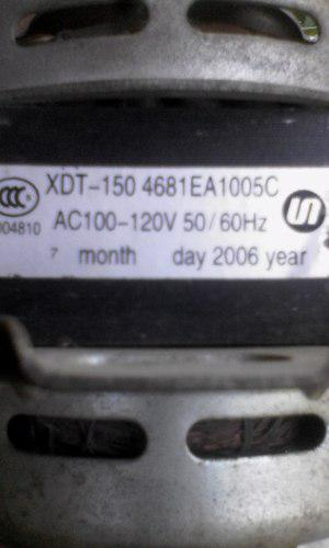 Motor De Lavadora Doble Tina 12 Kgs Usado