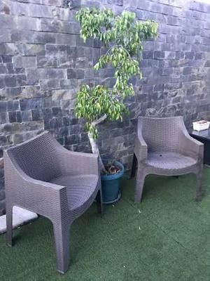 Poltrona O Silla Tejida En Pvc Para Jardín