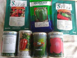 Semilla De Cebolla, Semilla De Tomate Y Pimenton