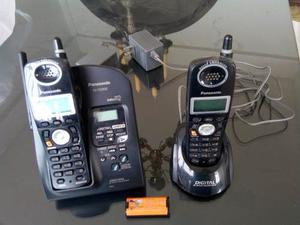 Telefonos Inalambricos Con Grabadora Y Dos Bases Panasonic