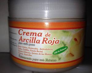 Crema De Mascarilla De Arcilla Roja Y Arcilla Blanca