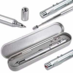 Boligrafo Con Apuntador Laser Y Antena Extensible Linterna