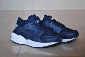 Kp3 Zapatos Nike Air Huarache Azul Para Niños Y Niñas