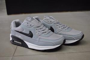 Kp3 Zapatos Nike Air Max 90 Gris / Negro Del 40 Al 45