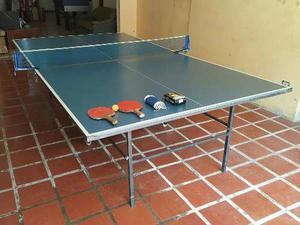 Mesa De Ping Pong Marca Yston (raquetas, Malla Y Pelotas)