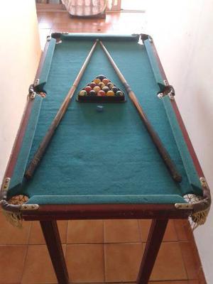 Mesa De Pool En Madera Con Detalles Remato