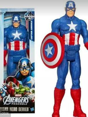 Muñeco De Capitan America Original De Avengers 30cm