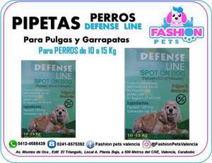 Pipetas Defense Line Para Perros 10 A 15 Kg