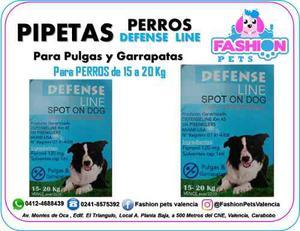 Pipetas Defense Line Para Perros 15 A 20 Kg