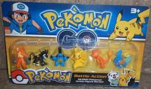 Set 6 Figura Pokemon Go Coleccionables Juguete