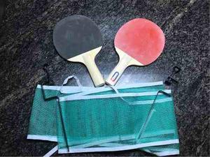 Set De Raquetas De Ping Pong Con Malla De Juego
