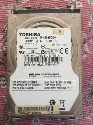 Disco Duro Sata Para Laptop De 250 Gb Toshiba