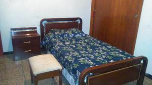 Juego De Cuarto Dormitorio Individual Cama Peinadora Butaca