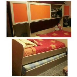 Juego De Cuarto Modular (cama Extra+escritorio+closet)
