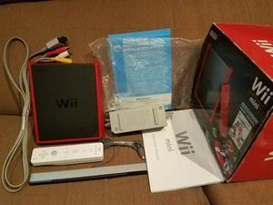 Click! Mini Wii Red Edition Rojo Caja Control Cables Perfect