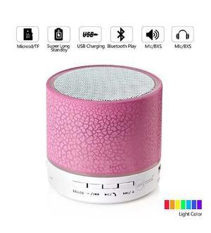 Mini Corneta Bluetooth Portátil Led Fm Aux Sd