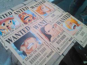 One Piece Se Busca 14 Mini Afiche Papel Glace Texturizado