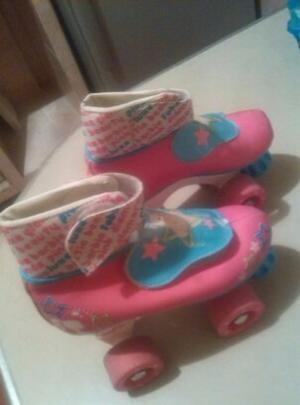 Patines Barbie 4 Ruedas Como Nuevos